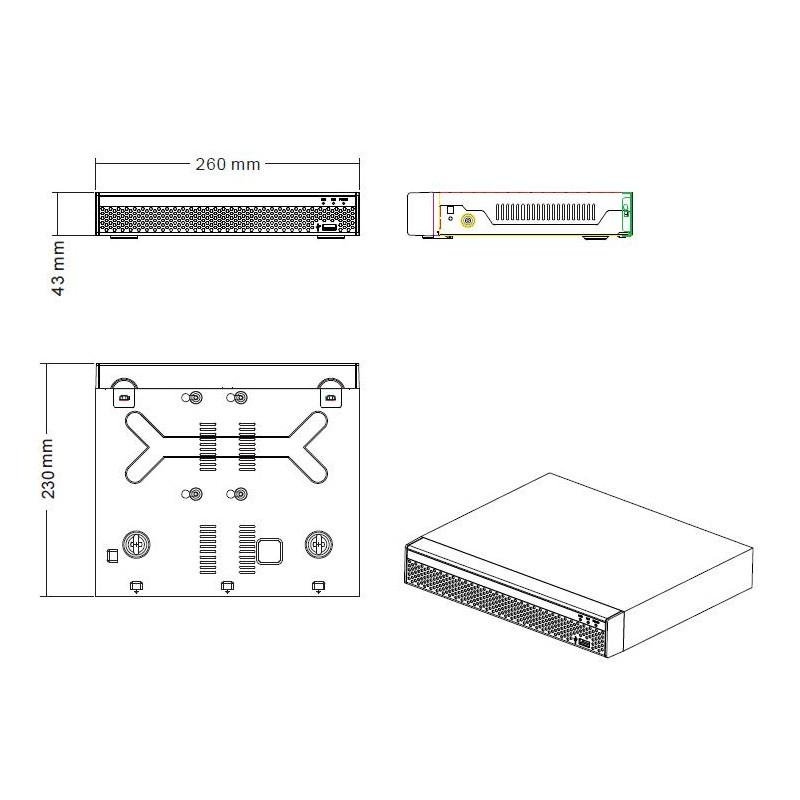 Nvr 9 canali onvif 4k h.265 - poe integrato a 8 porte - NVR - Network Video Recorder | Lorwen.it